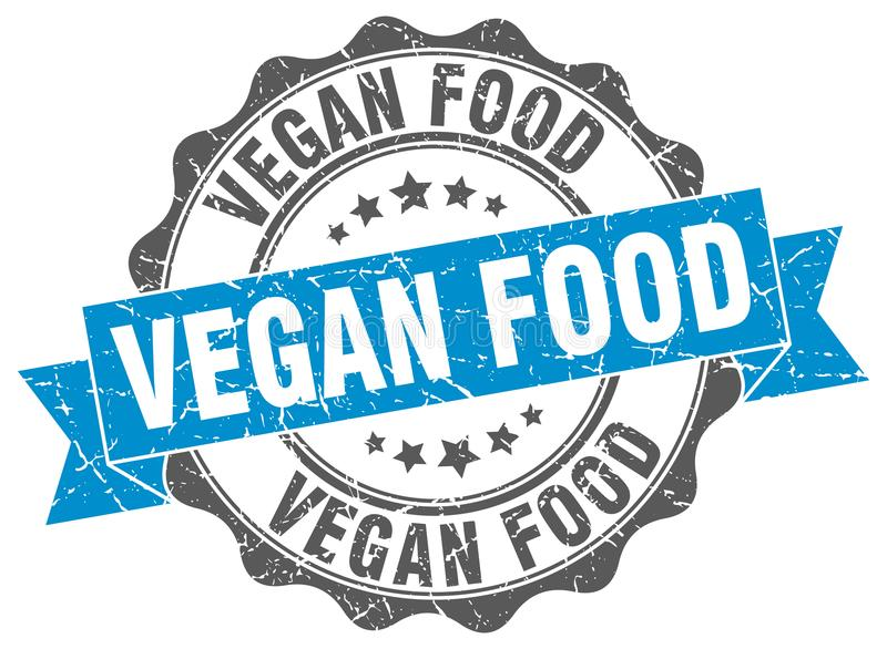 Lebensmitteldichtung des strengen Vegetariers stempel lizenzfreie abbildung