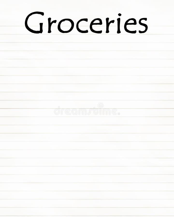 Lebensmittelgeschäfte stock abbildung
