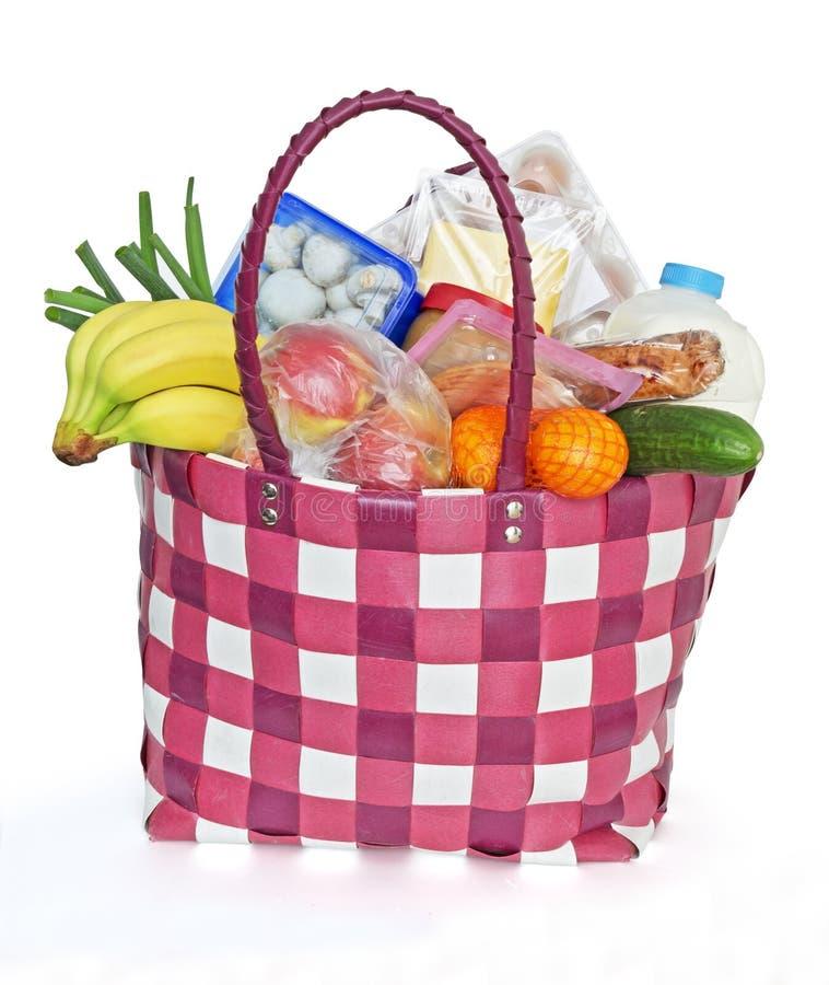 Lebensmittelgeschäfttasche stockbilder