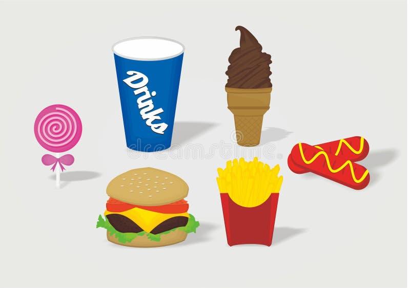 Lebensmittelkarikatur stockbilder