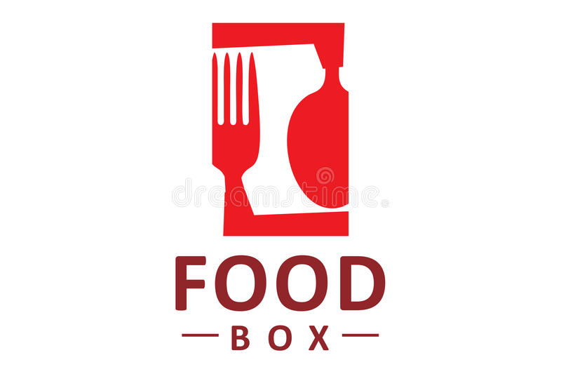 Lebensmittelkastenlogo lizenzfreie abbildung