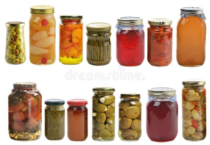 Lebensmittelkonserven-Sammlung stockfoto