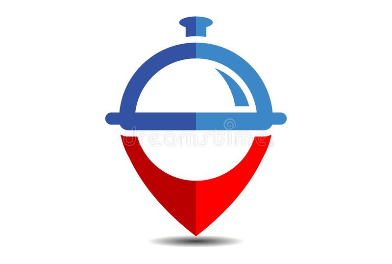 Lebensmittelstandortrestaurantlogo-Vektor dsign lizenzfreie abbildung