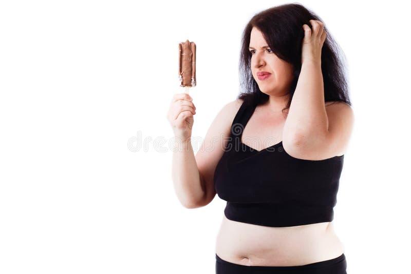Lebensmittelsucht, Diät, Übergewicht, Gesundheitswesen, lösendes Gewicht, FI lizenzfreies stockbild