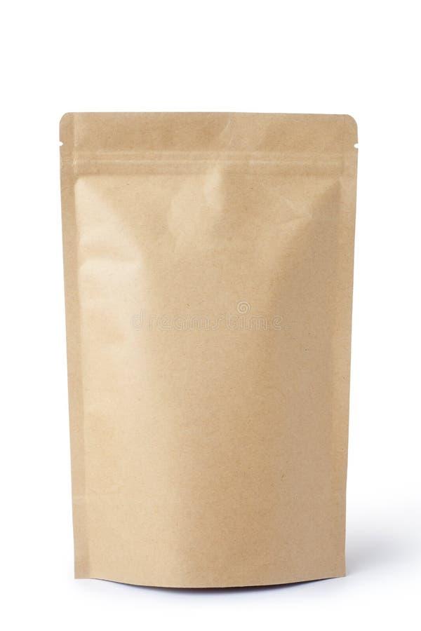Lebensmitteltasche des braunen Papiers stockfotos