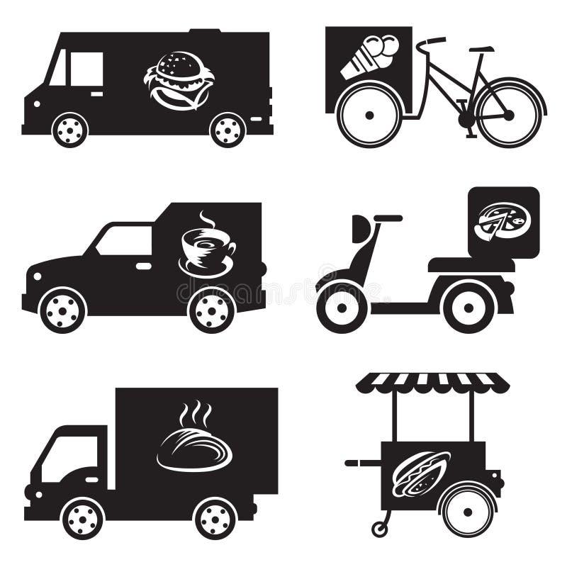 Lebensmitteltransportikonen vektor abbildung
