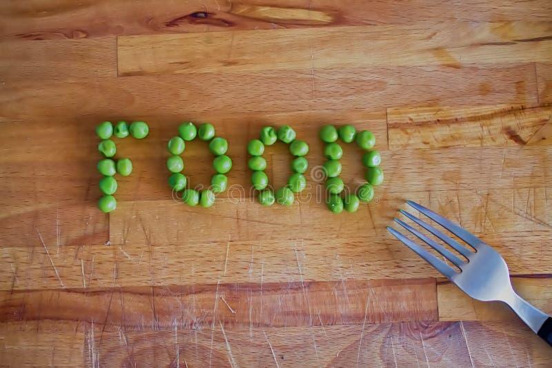 Lebensmittelwort stockbild