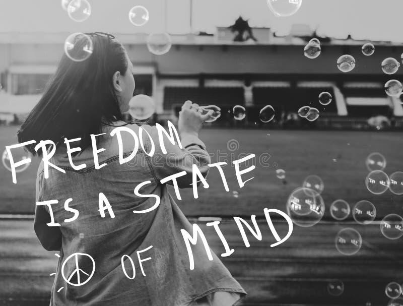 Lebensstil-positives Gedanken-Sinnesleben-Konzept stockbilder