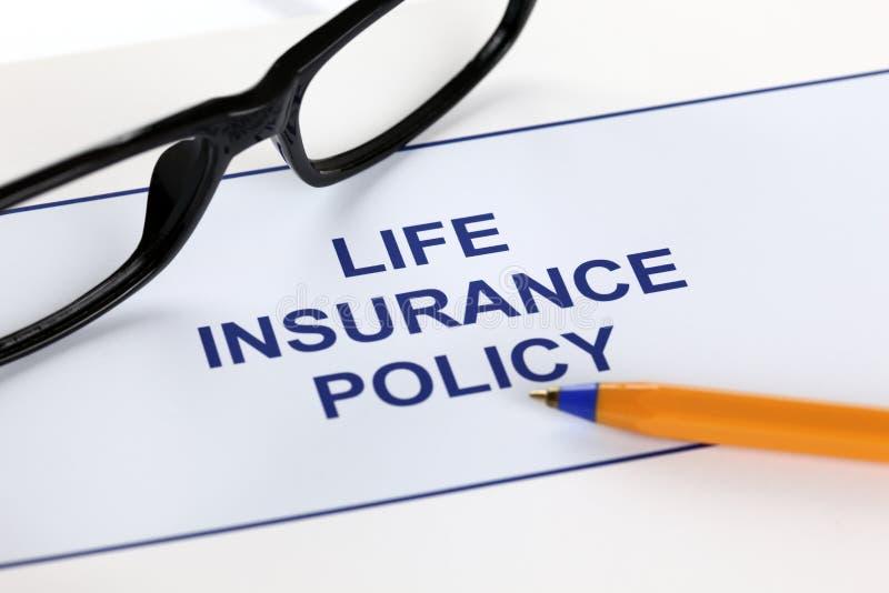 Lebensversicherungspolice lizenzfreie stockfotografie
