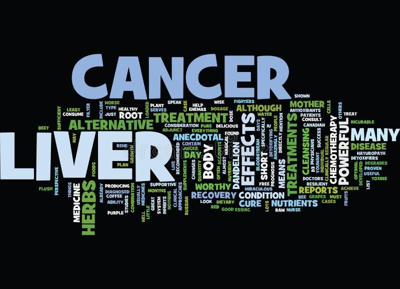 Leber-Krebs-Text-Hintergrund-Wort-Wolken-Konzept lizenzfreie abbildung