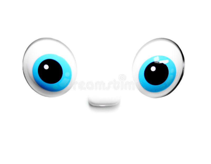 Lebhafte blaue Augen stock abbildung