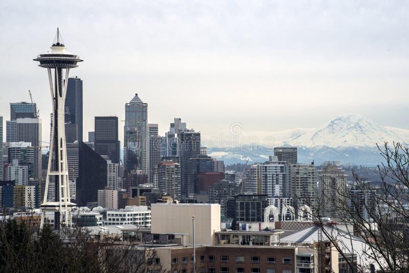 Lebhafter Seattle-Morgen lizenzfreie stockfotos