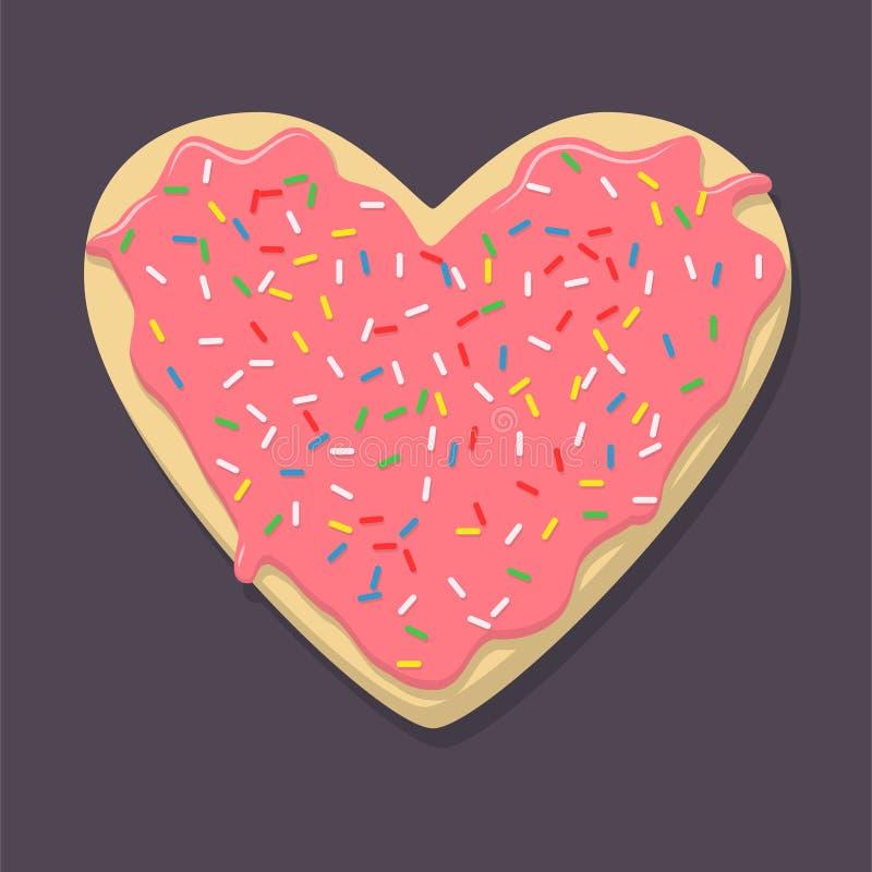Lebkuchen in Form von Herzen lizenzfreie abbildung