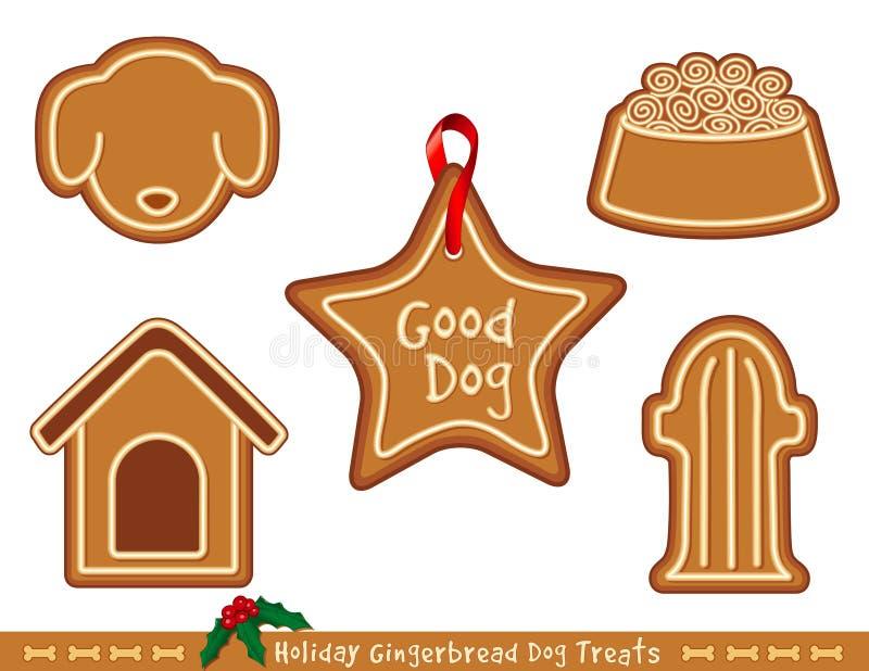 Lebkuchen-Hundefestlichkeiten lizenzfreie abbildung