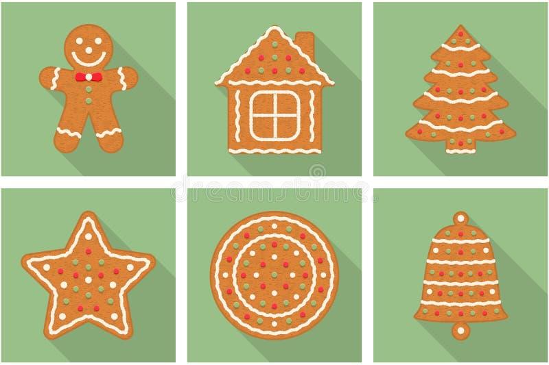Lebkuchen-Weihnachtsplätzchen lizenzfreie abbildung