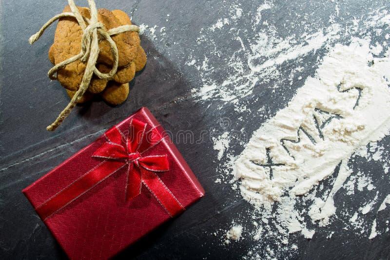 Lebkuchengebäck mit Lebensmittelhintergrund lizenzfreies stockbild