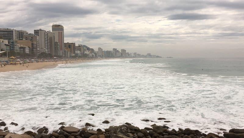 Leblon beach / Rio de Janeiro. Beautiful day at the leblon beach stock photo