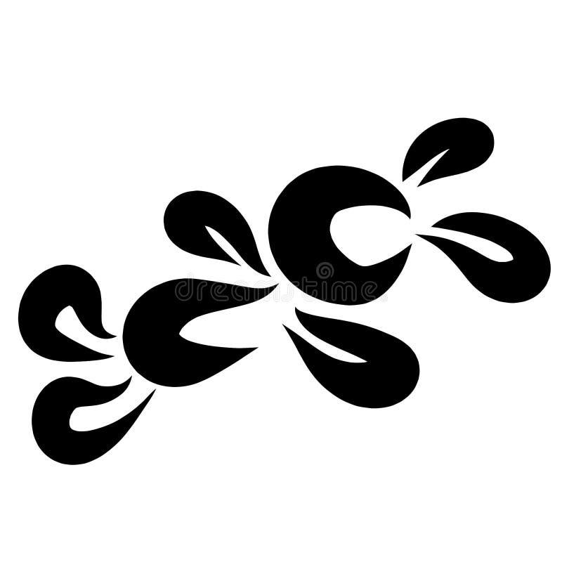 Lebre de encontro do brinquedo, teste padrão preto em um fundo branco ilustração stock