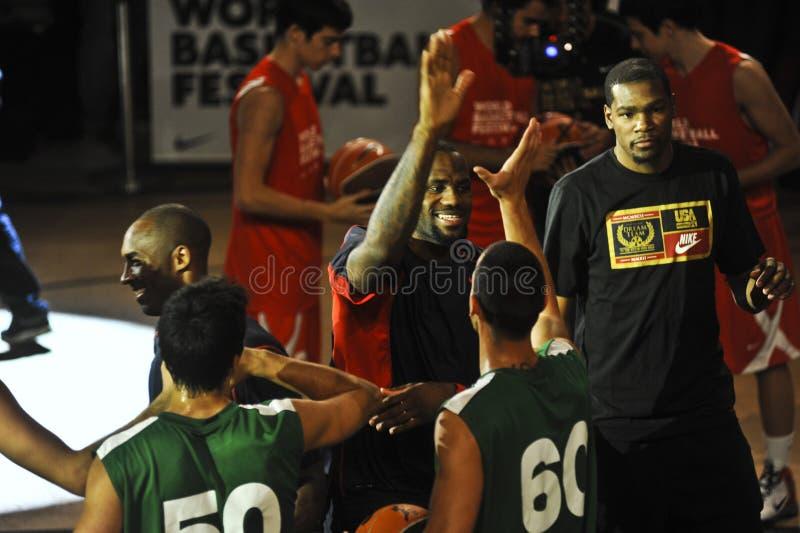 LeBron Джеймс Кобе Bryant Кевин Durant стоковое фото