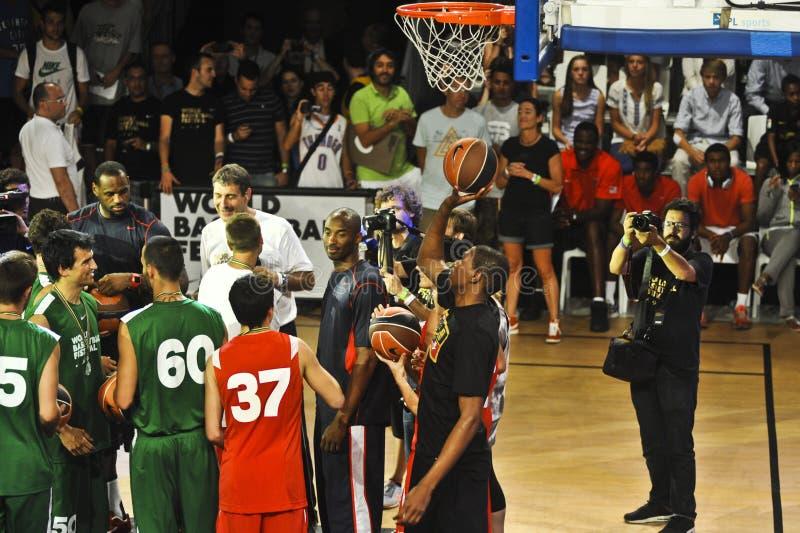 leBron James Kobe Bryant Kevin Duran zdjęcie stock
