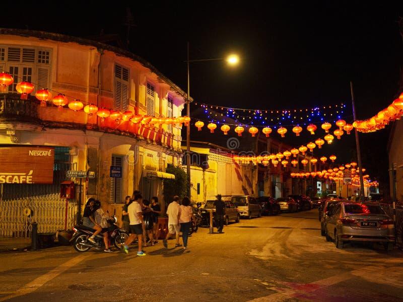 Lebuh armênio, Georgetown, Penang foto de stock royalty free