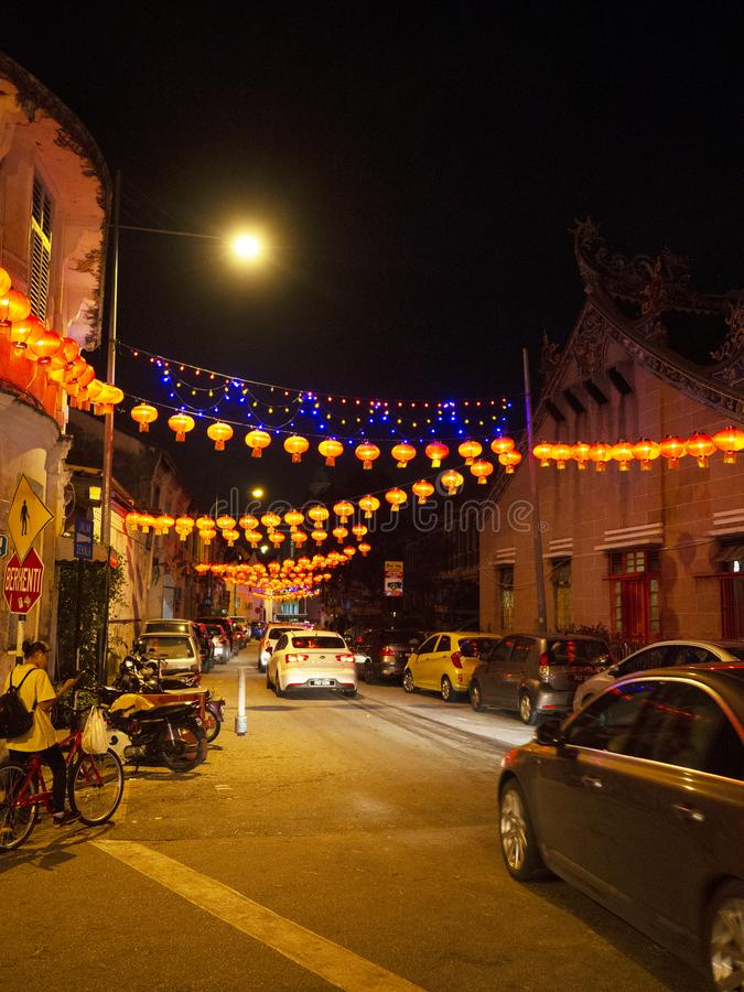 Lebuh armênio, Georgetown, Penang imagem de stock royalty free