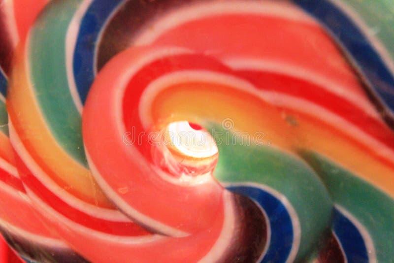 Lecca-lecca dolce in pieno dei colori fotografia stock