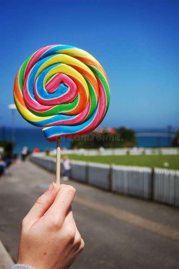 Lecca lecca dolce Colourful fotografia stock libera da diritti