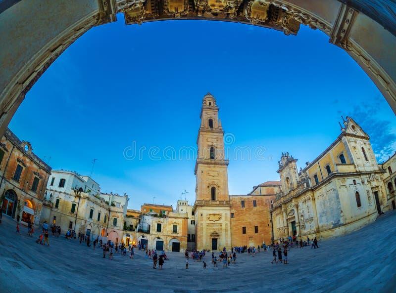 Lecce大教堂在意大利 免版税库存图片