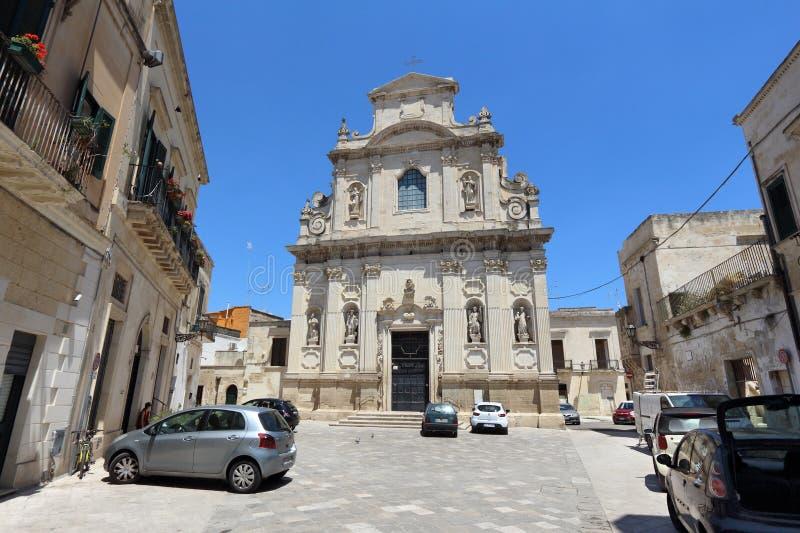Lecce μπαρόκ στοκ εικόνες