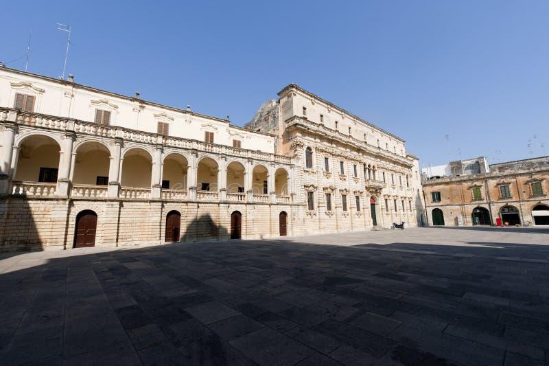 Lecce (Apulia, Italy): The main square stock photography