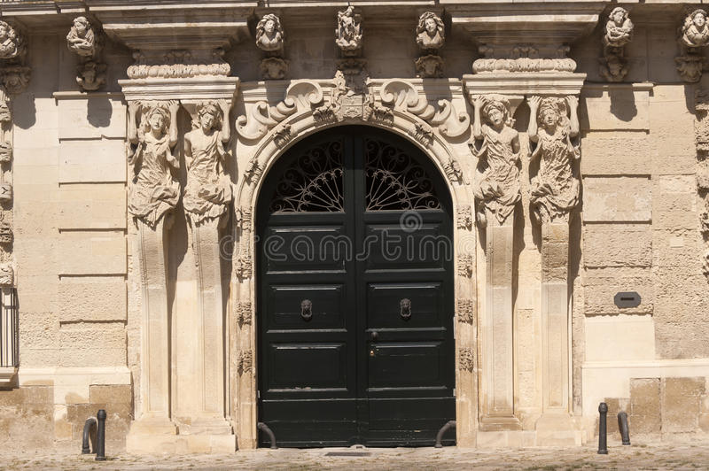Lecce (Apulia, Italy): old house in baroque style royalty free stock image
