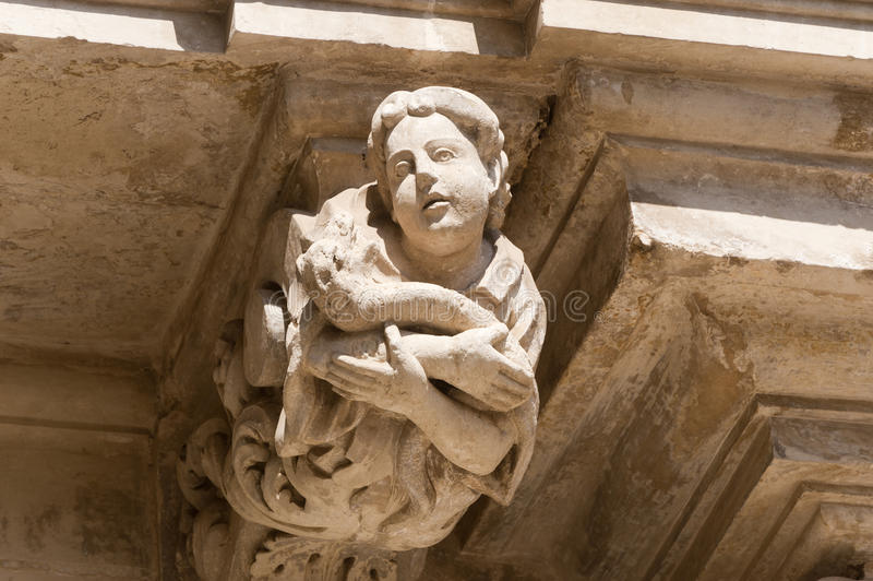 Lecce (Apulia, Italy):old palace, detail stock image