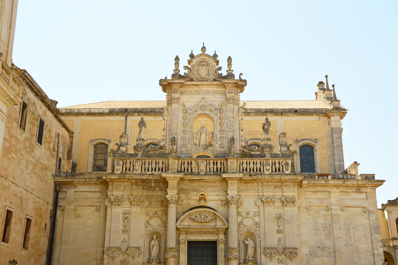 Lecce Cathedral dedicated to the Assumption of the Virgin Mary, Apulia, Italy.  stock image