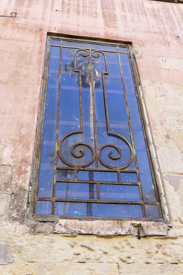 Lecce, fenêtre en forme de pénis Vieux bordel dans Lecce photos stock