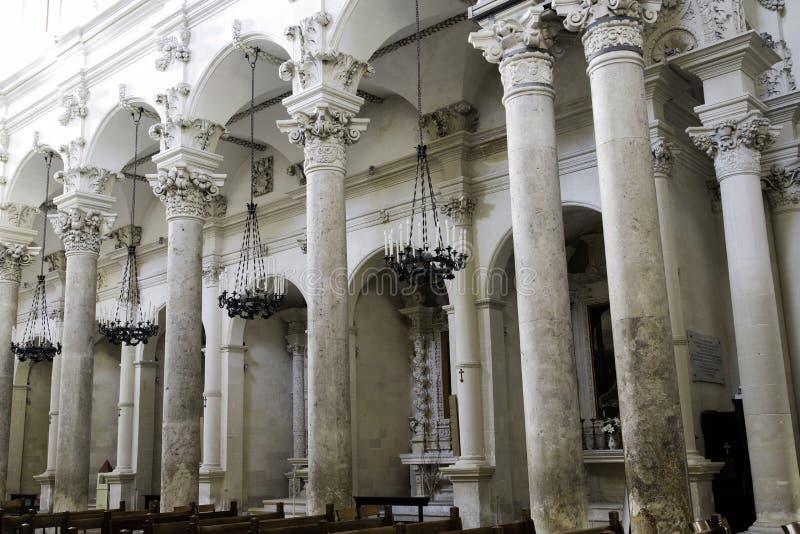 Lecce-Kirche stockfotos