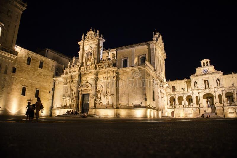 Lecce Piazza del Duomo stock foto