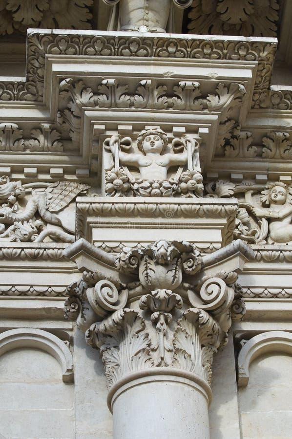 lecce puglia santa Италии croce базилики стоковая фотография