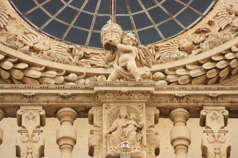 lecce santa Италии детали croce церков стоковое изображение
