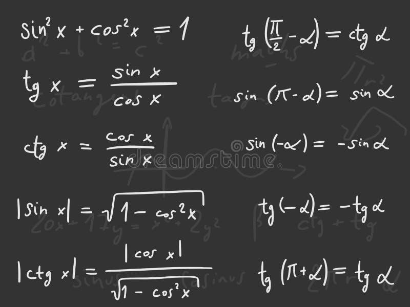 Lección de la matemáticas stock de ilustración