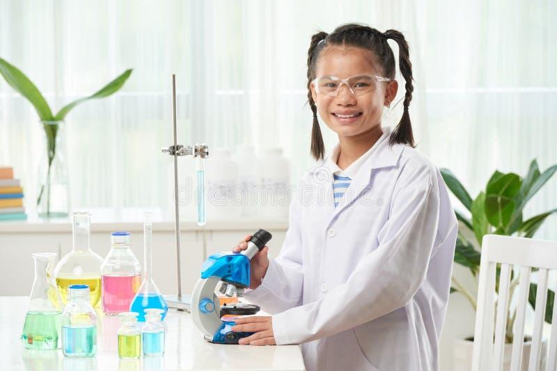 Lección de la química imagen de archivo