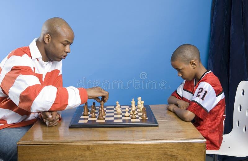 Lección del ajedrez fotos de archivo libres de regalías