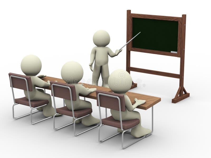 Lección en sala de clase libre illustration