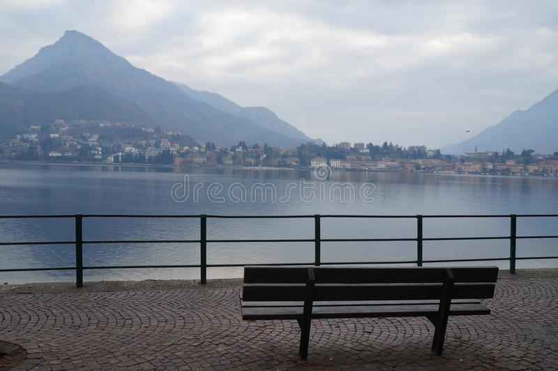 Lecco, como& x27 ; lac de s, Italie photo stock