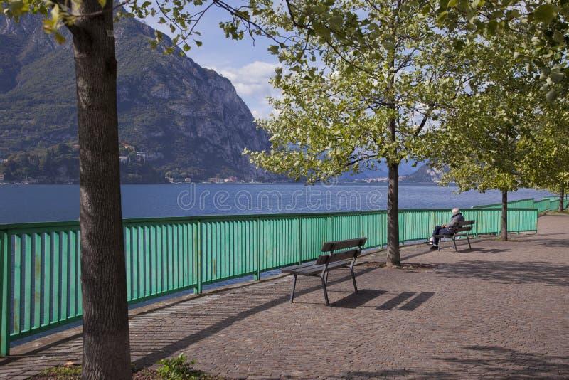 Lecco, lac Como photos libres de droits