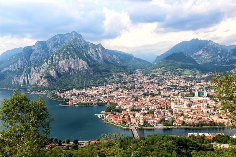 Lecco, lago Como, Italia foto de archivo