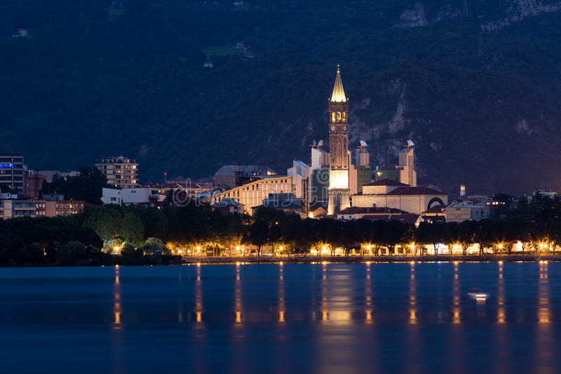 Lecco by Night stock images