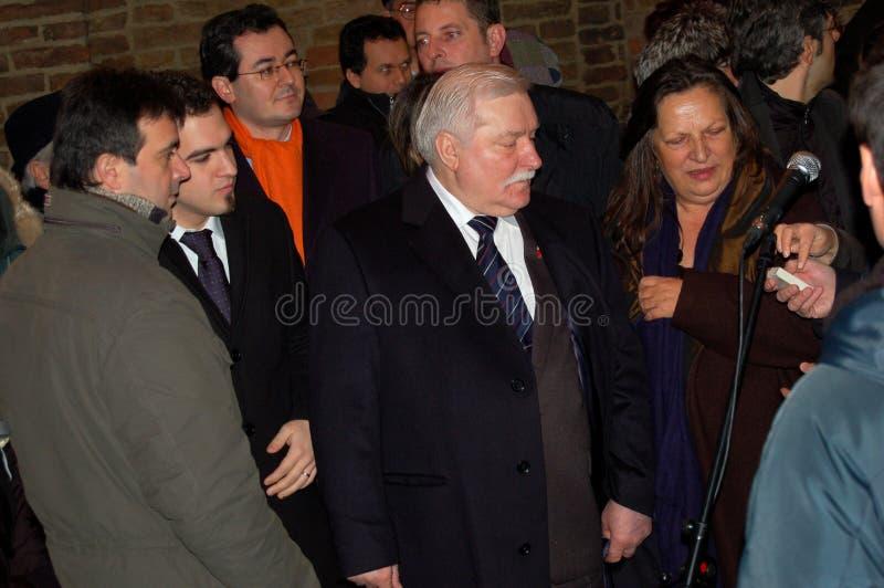 lech Nobel Parma pokoju nagroda Walesa obraz stock