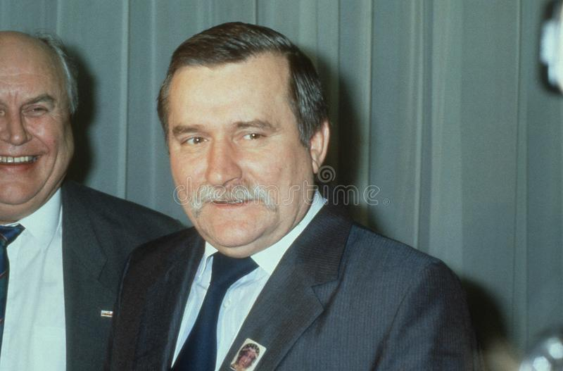 Lech Walesa στοκ εικόνα με δικαίωμα ελεύθερης χρήσης