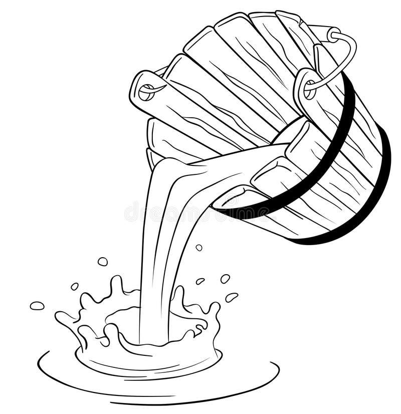 Leche de colada del compartimiento stock de ilustración